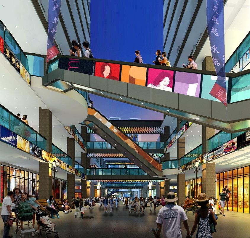 商场建筑室内效果图设计案例